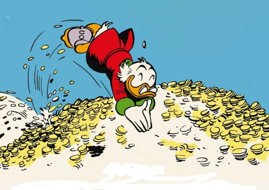 Uncle Scrooge takes a plunge